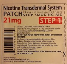 Habitrol Nicotine Transdermal System Patch 21mg Step 1 14 PATCHES (2-week kit)