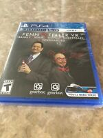 Penn And Teller VR Frankly Unfair Unkind PlayStation 4 PS4 PSVR. Fast Free Ship.
