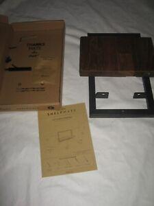 Wandregal Shelfmate 20x25,5x35 cm Metall Teak Holz Holzregal