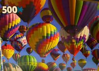 500 PC JIGSAW PUZZLE With Keepsake Box - Hot Air Balloons (Vibrant Colors)
