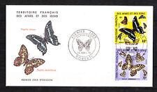 enveloppe  Afars et Issas  papillons    1975