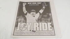 November 8 2009 New York Post JOY RIDE Yankees 20 Page Tribute Section