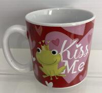 Burton & Burton Kiss Me Frog Prince Valentine Mug, Adorable