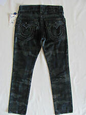 True Religion Straight w/ Flaps Jeans - Laser Resilient Camo -Size 28 - NWT $268