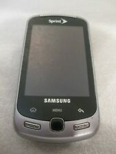 Samsung Moment SPH-M900 - Black (Sprint) Smartphone W/Charger!