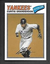 CURTIS GRANDERSON 2012 TOPPS ARCHIVES CLOTH STICKER #77C-CG FREE COMBINED S/H