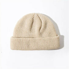 1pc Unisex Men Women Beanie Hat Warm Ribbed Winter Turn Ski Fisherman Docker Hat