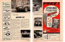 1960 DEVIN SS KIT CAR ~ ORIGINAL 2-PAGE ARTICLE / AD