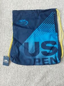 US Open Tennis draw string bag blue NEW Authentic