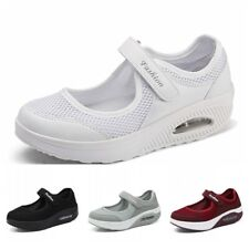 Womens Casual Breathable Sport Running Mesh Walking Slip-On Tennis Gym Shoes