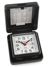 Champion Alarm Clock Black Folding Travel Table Small Traditional Luminous Basic