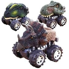 4x Dinosaurs Figures Pull Back Cars Jurassic Toys Kids Children Christmas Gifts