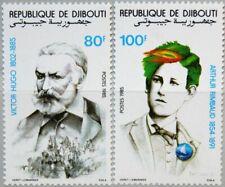 DJIBOUTI DSCHIBUTI 1985 443-44 601-02 V. Hugo A. Rimbaud Poet Writer Dichter MNH