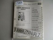 Clark Forklift C20BS Quick Reference Guide Manual