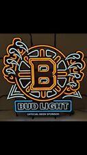 BUD LIGHT BOSTON BRUINS LED NEON SIGN