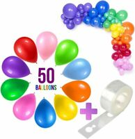 50 pcs Party Balloons Assorted Color 12 inch, Helium Quality Latex for Party