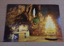 Postcard Lourdes holy Shrine France The Miraculous Grotto Candles unposted