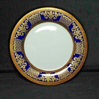 NEIMAN MARCUS Legend Cobalt 9321 Cobalt Blue Gold Trim Salad Plate