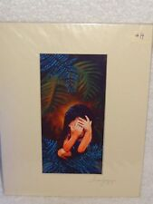 Hand Signed Matted Print- Susan Jump- Little Girl In Jungle- Usa