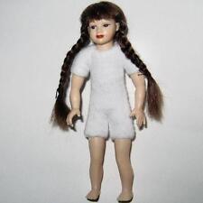 DOLLHOUSE Girl Doll Undressed HOXKK02 Heidi Ott brown braids NRFB Miniature 1-12