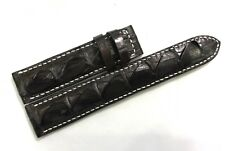 HandMade Crocodile/Alligator Tail Skin Leather Watch Strap Band 20mm/18mm