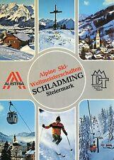 Alte Postkarte - Alpine Ski-Weltmeisterschaften Schladming Steiermark