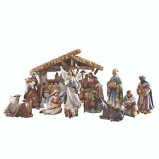 Nativity Set 6.5 inch 13pc Removable Baby Jesus Stable Kings Shepherd Animals