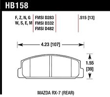 Hawk Performance HB158Z.515 Stable Friction Output Disc Brake Pads