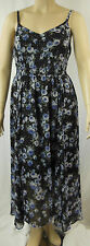 City Chic Maxi Black Multi Spaghetti Strap Empire Dress Size XS 14 BNWOT #CC27