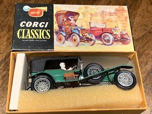 VINTAGE 60's CORGI CLASSICS # 9001 1927 BENTLEY 3 LITRE LE MANS TEAM CAR MIB