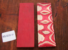 "5"" Pair of Exotic Wood Scales Knife Handle Making Blanks Bush Crafts TOP! (5038"
