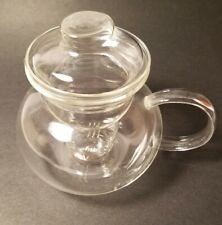 Primula Clear Glass Teapot Brewer teabags or loose leaf or flowering Tea