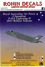 Ronin Decals 1/48 RAAF 3 Squadron F-35A LIGHTNING II 2017 ROLLOUT SCHEME