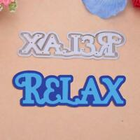 2pc/set Relax Metal Cutting Dies Stencil Scrapbooking Embossing Craft Paper Card