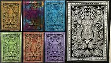 Rasta Lion Tiger Face Wall Hanging Poster Small Tapestry Hippie 40*30 Cotton Art