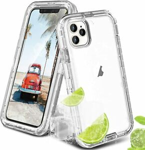 For Apple iPhone 11 Pro Max 12 Mini Shockproof Clear Case HeavyDuty Hybrid Cover