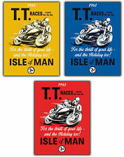 Metallschild Wandtafel Manx Grand Prix TT Races Insel Man Retro Vintage Plakat
