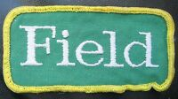 "FIELD EMBROIDERED SEW ON ONLY PATCH LOGO ADVERTISING UNIFORM BADGE 4"" x 2"""