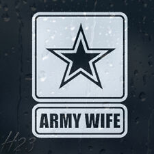 Army Wife Sign Military Star Car Decal Vinyl Sticker