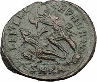 CONSTANTIUS II Constantine the Great son Ancient Roman Coin Horse man i32309