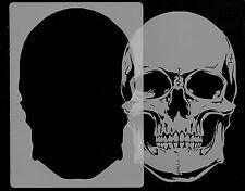 Tout airbrush stencils-skull head-pochoir 1