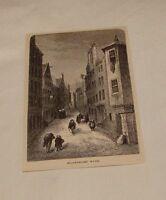 1879 magazine engraving ~ BLACKFRIARS WYND, Scotland