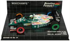 Minichamps Benetton BMW B186 # 19 USA GP DETROIT 1986-TEO FABI scala 1/43