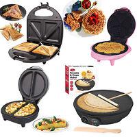 New Electric Omelette Maker/Waffle Maker/Pancake Crepe/Sandwich Maker Non Stick