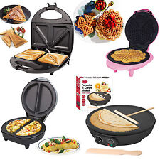 New Electric Omelette Maker/Waffle Maker/Pancake Crepe/Sandwich Maker Non Stick