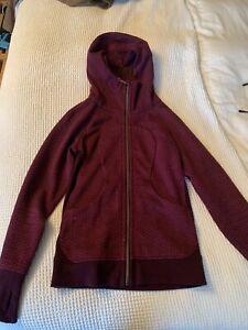 Lululemon Scuba Hoodie II Jacket Sweater Size 6 Thumbholes