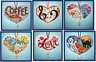 MILL HILL Counted Cross Stitch Kit - I LOVE CHARMED ORNAMENTS Buy 1 or 1 of EACH