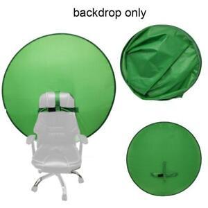 Background Board Green Screen Vibrato Live E-sports Open Black Can Set Chair