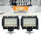 2PCS 5inch 168W Spot LED Work Light Bar Off Road Boat Fog Driving 12V 24V 4""