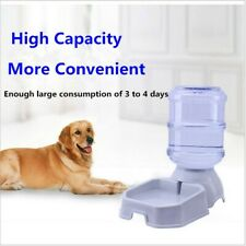 Automatic Dog Cat Food Feeder And Water Dispenser Gravity 3.8L